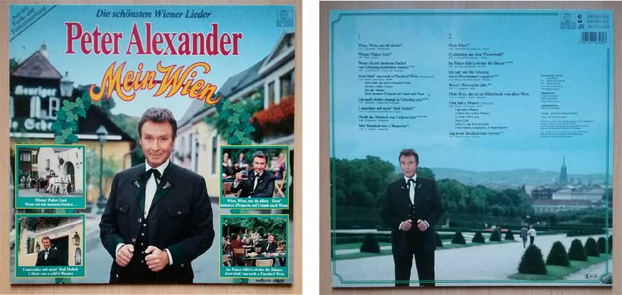 Peter Alexander LP mit Liedern mein Wien
