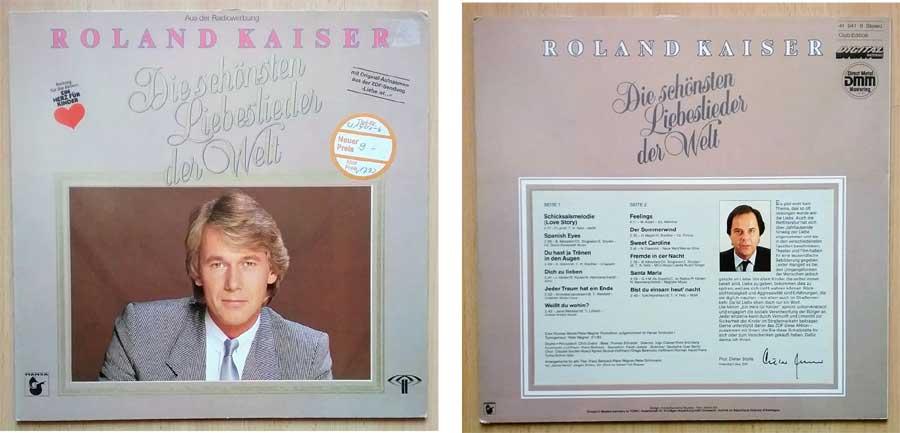 Roland Kaiser LP mit Kiloware Liebesliedern