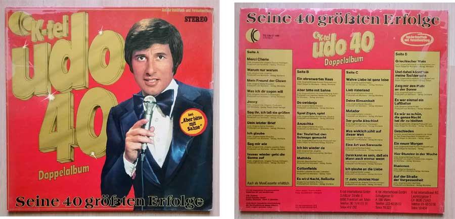 Udo Jürgens Musik auf einer Doppel-LP