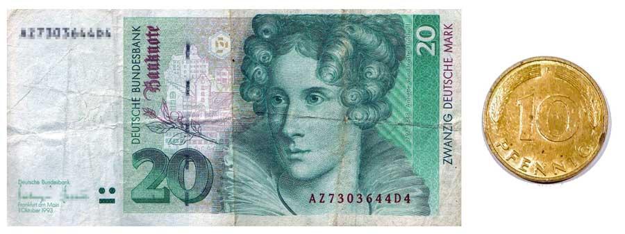 20 DM Musterabbildung Deutsche mark
