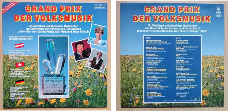 Schallplatte mit dem Grand Prix der Volksmusik