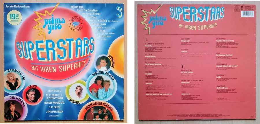 Superstars mit Super-Hits auf Langspielplatte