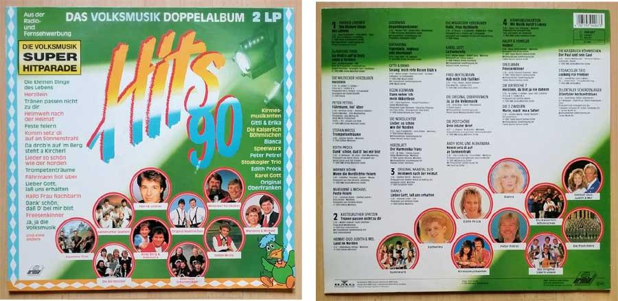 Schallplatten mit Volksmusik einem Doppelalbum