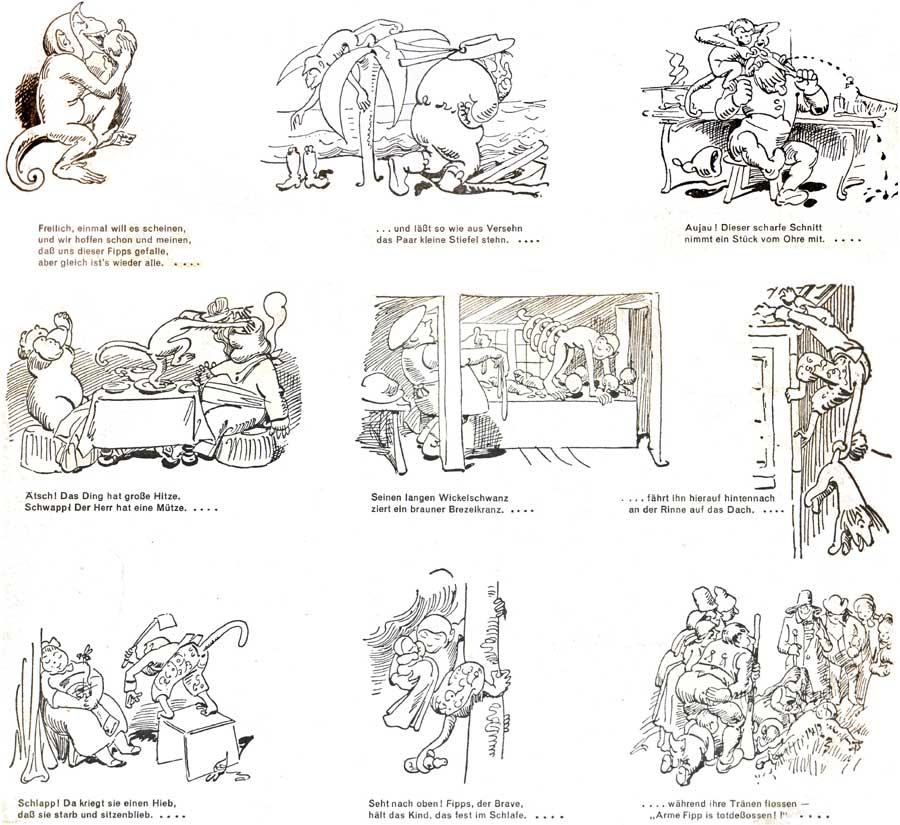 Geschichten Fipps der Affe - Bildgeschichte