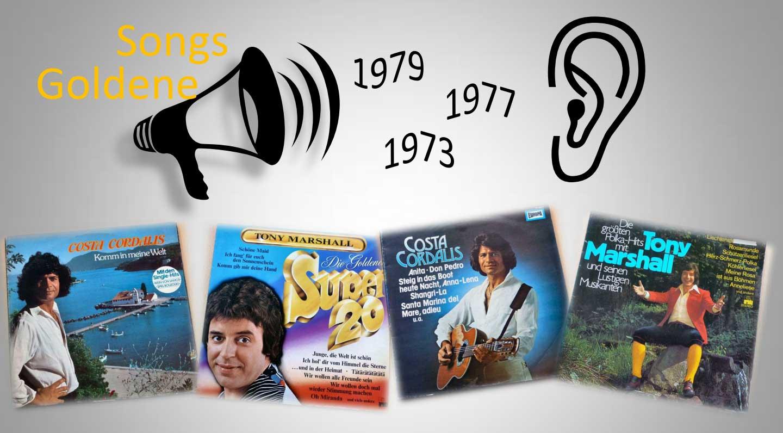 Goldene Songs Banner aus goldenen Zeiten