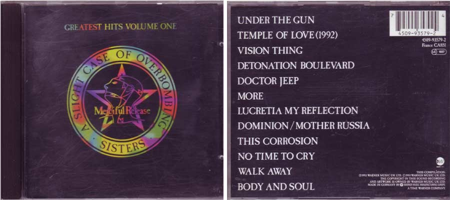 The Sisters Of Mercy - Greatest Hits Volume One