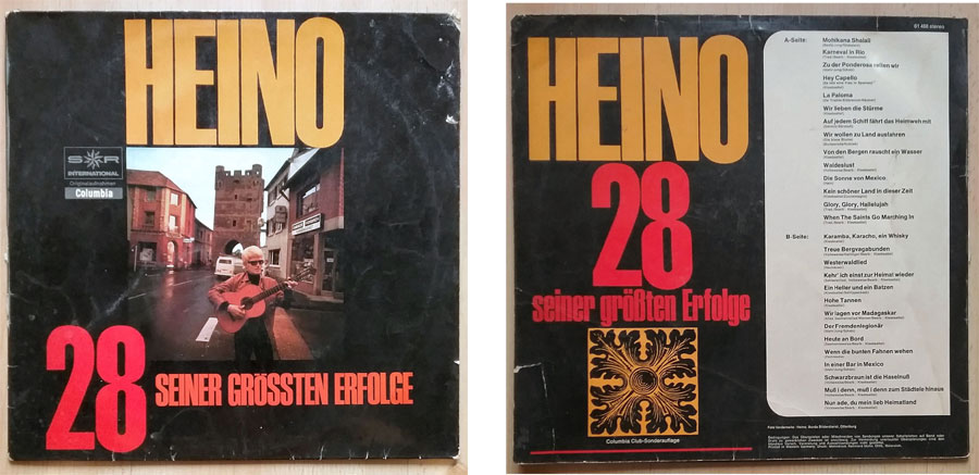 Schallplatte von Heino mit Deutscher Volksmusik