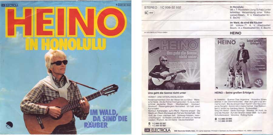 7 Zoll Singel von Heino für Musikbox Melodien