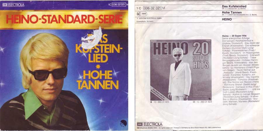 7 Zoll Singel von Heino für deine Jukebox Melodien