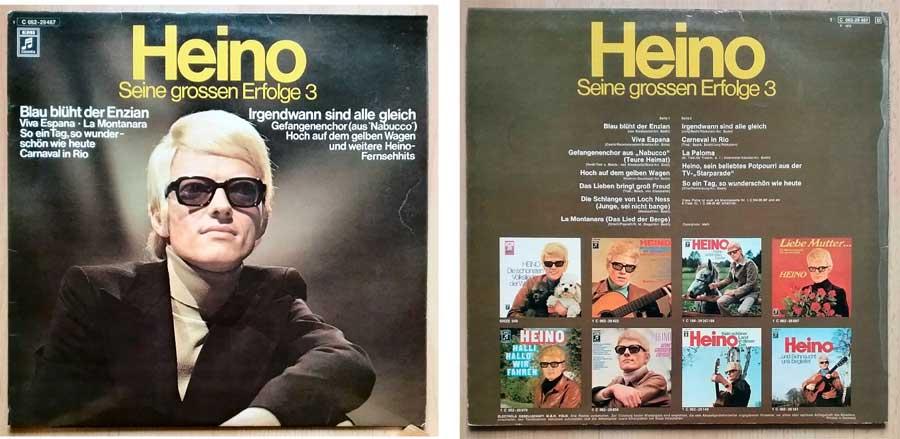 Schallplatte von Heino, seine großen Erfolge Nr. 3