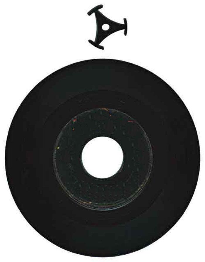 Musterabbildung eines Reduzierstern für eine Single-Schallplatte