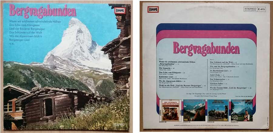 Lieder für Bergsteiger auf Schallplatte
