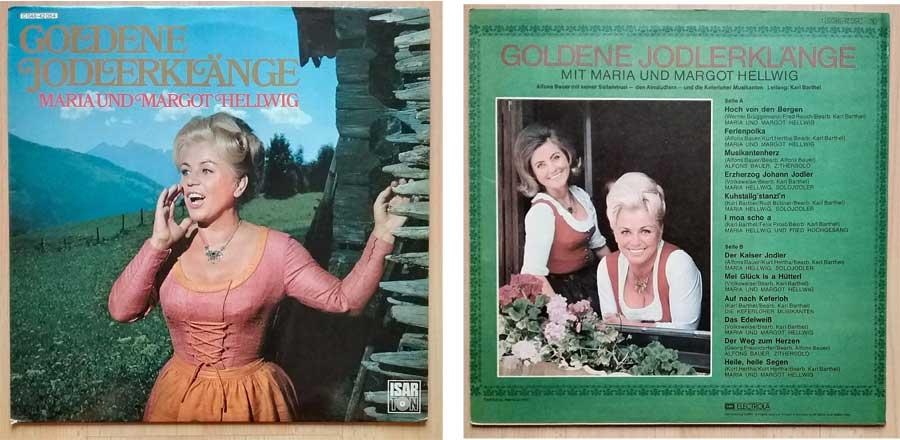 Schallplatte mit Maria und Margot Hellwig