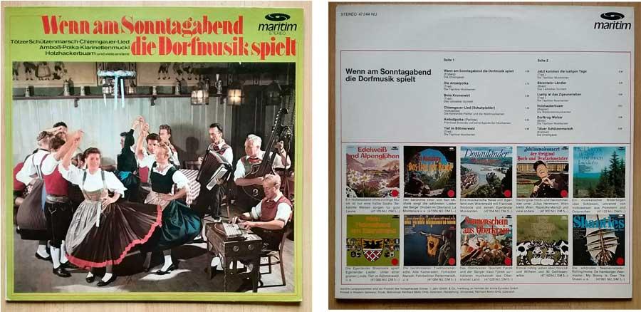 Schallplatte mit Dorfmusik und Feierabendmusik
