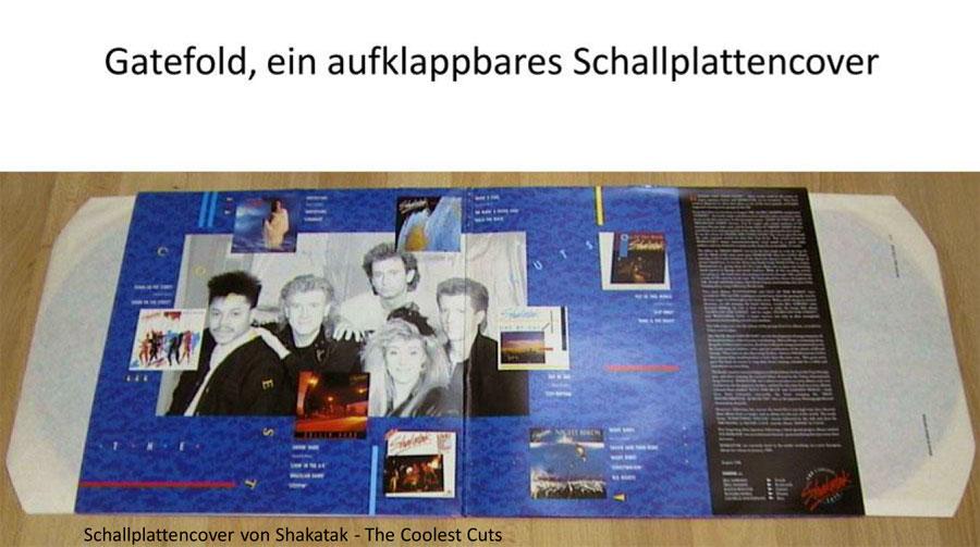 Erklärung Gatefold, ein aufklappbares Schallplatten-Cover