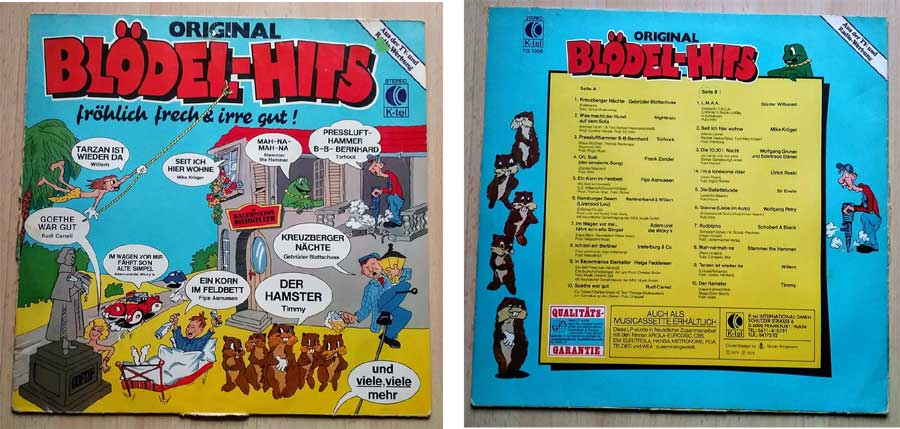Original Bloedel-Hits auf Schallplatte