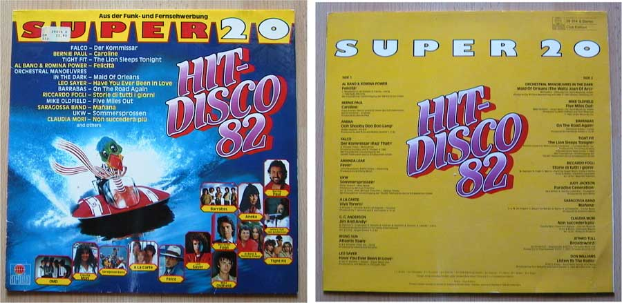 Super 20 Hit-Disco 82 - LP von 1982