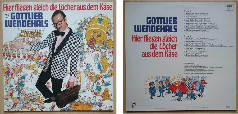 Schallplatte von und mit Gottlieb Wendehals
