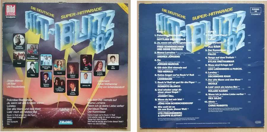 Die Bild am Sonntag Schallplatte Hit-Blitz '82