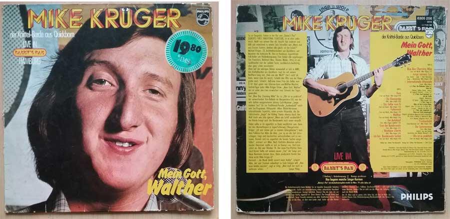 Schallplatte mit Mike Krüger - Mein Gott, Walther