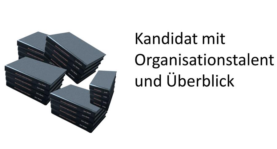 Organisationstalent bei der Onlinebewerbung