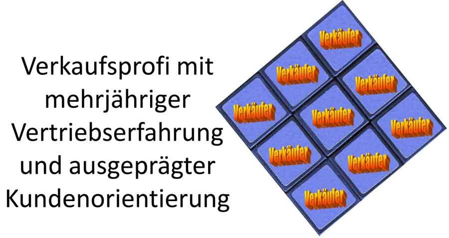 Verkaufsprofi - Banner für die Blindbewerbung