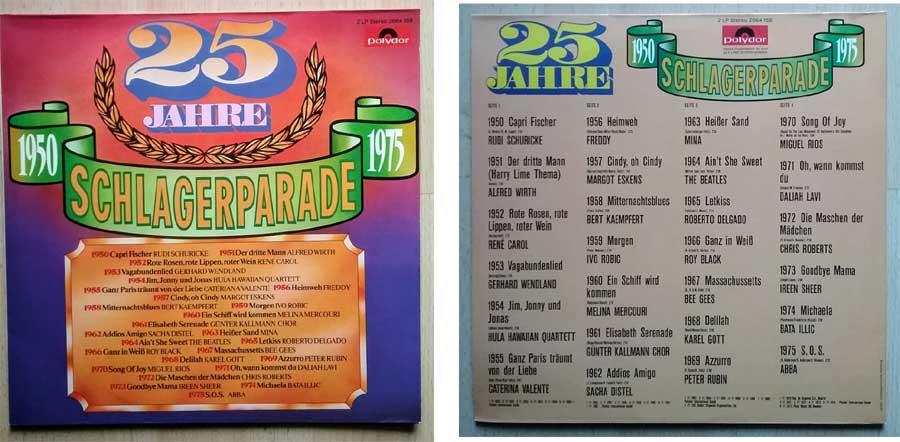 25 Jahre Schlagerparade auf Doppel LP.