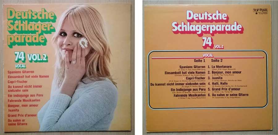 Deutsche Schlagerparade von 1974 auf Vinyl