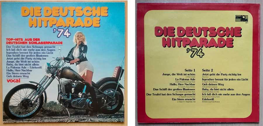 Deutsche Schlagerparade aus den 70ern auf Vinyl