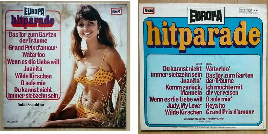 Europa Hitparade, Deutsche Schlagerparade auf Vinyl Record