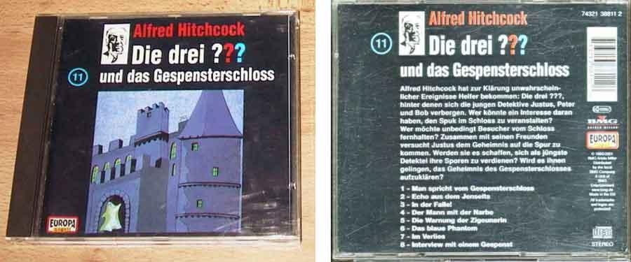 drei fragezeichen gespensterschloss CD Cover