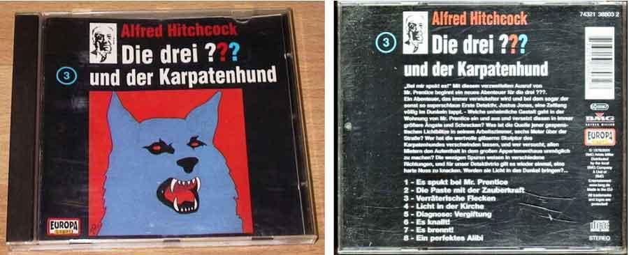 drei fragezeichen karpatenhund CD Cover