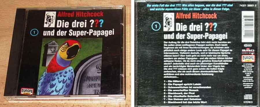 Die drei fragezeichen super papagei CD Cover