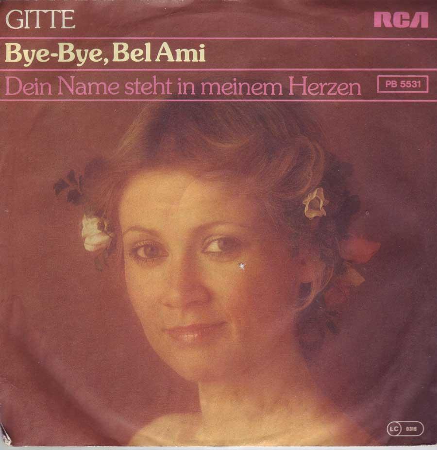 7 Zoll Single mit Gitte und Bye-Bye
