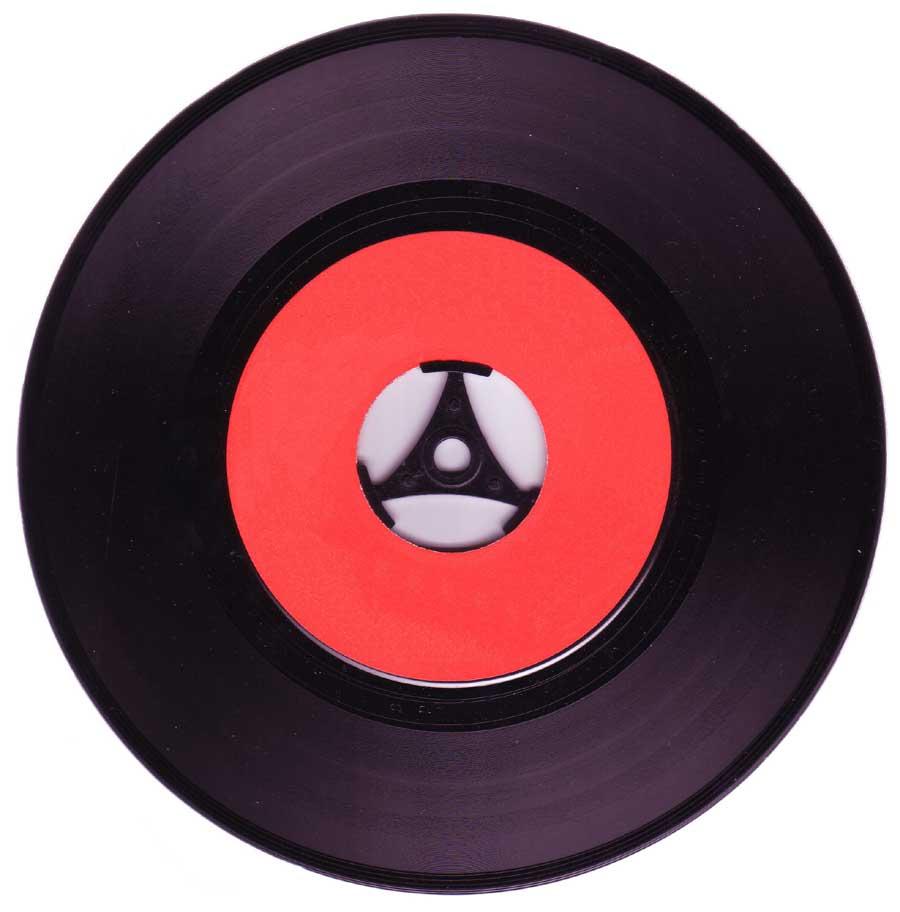Reduzierkreuz einer Single-Schallplatte