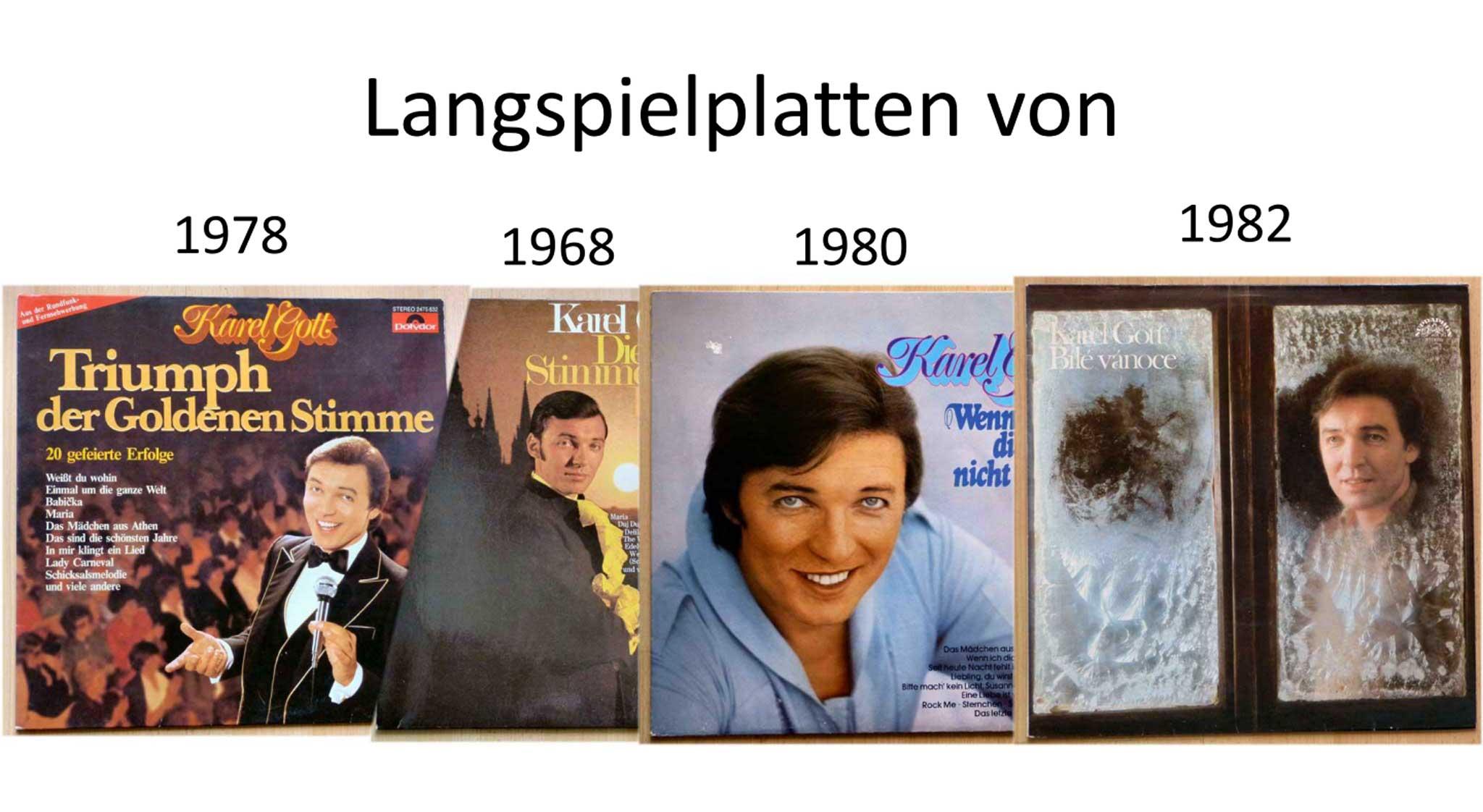 Karel Gott Banner gefeierte Erfolge