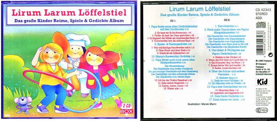 CD mit Kinderlieder und Kinderreime