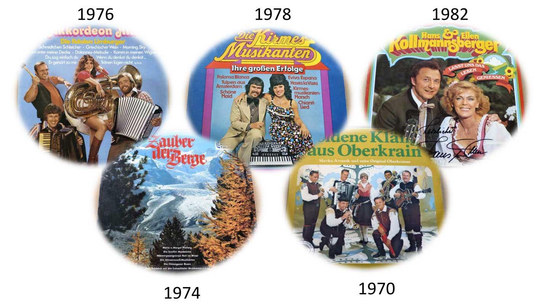 Langspielplatten Kirmeslieder 70er Jahre