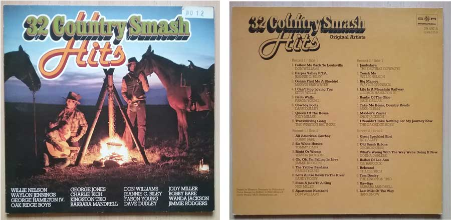 Langspielplatte mit Country Fernfahrer-Lieder