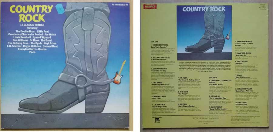 Schallplatte mit Countryrock Fernfahrerliedern