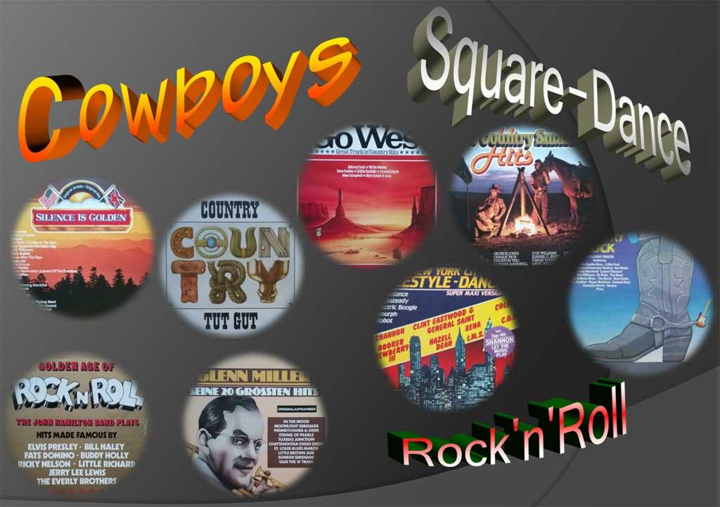 Countryrock, ein kleines Konvolut an Langspielplatten