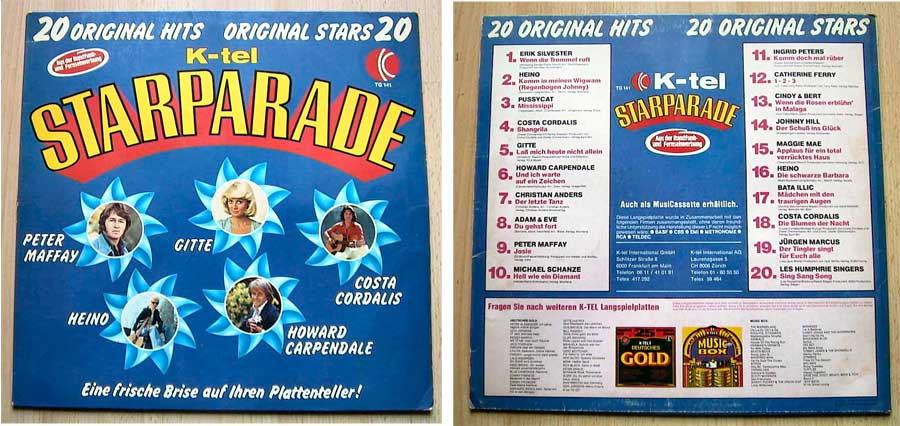 K-Tel Starparade - 20 Original Hits - 20 Original Stars - LP Vinyl von 1976