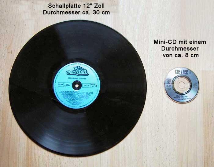 Unterschied LP bis CD