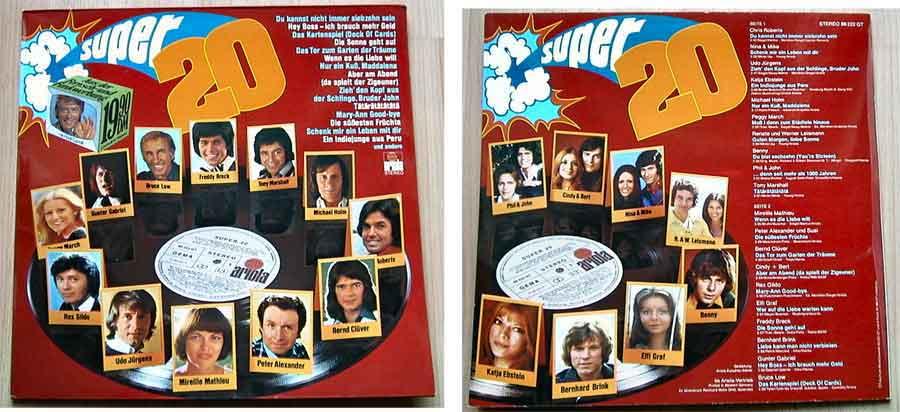 Langspielplatte, Compilations, Super Original Stars