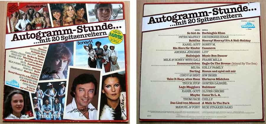 Autogramm-Stunde mit 20 Spitzenreitern - Vinyl, LP, Album