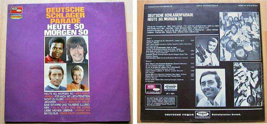 Deutsche Schlager Parade - Heute So Morgen So - LP Vinyl aus den 70/80ern?