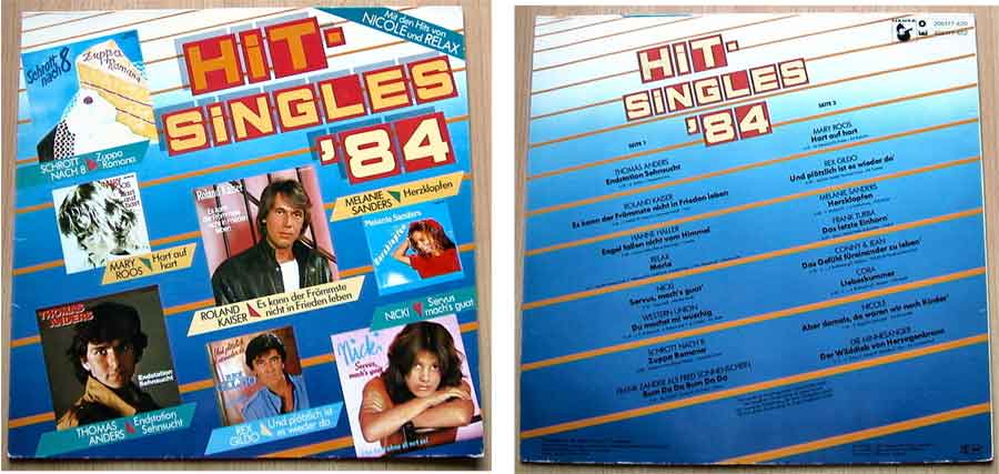 Hit-Singles '84 mit 16 Top-Hits - Vinyl, LP, Album