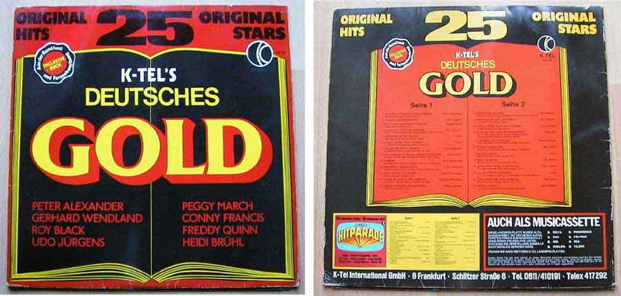 Deutsches Gold - 25 Original Hits, 25 Original Stars - LP Vinyl von 1976