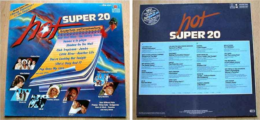 Hot Super 20 - Aus der Funk- und Fernsehwerbung - LP Vinyl von 1983