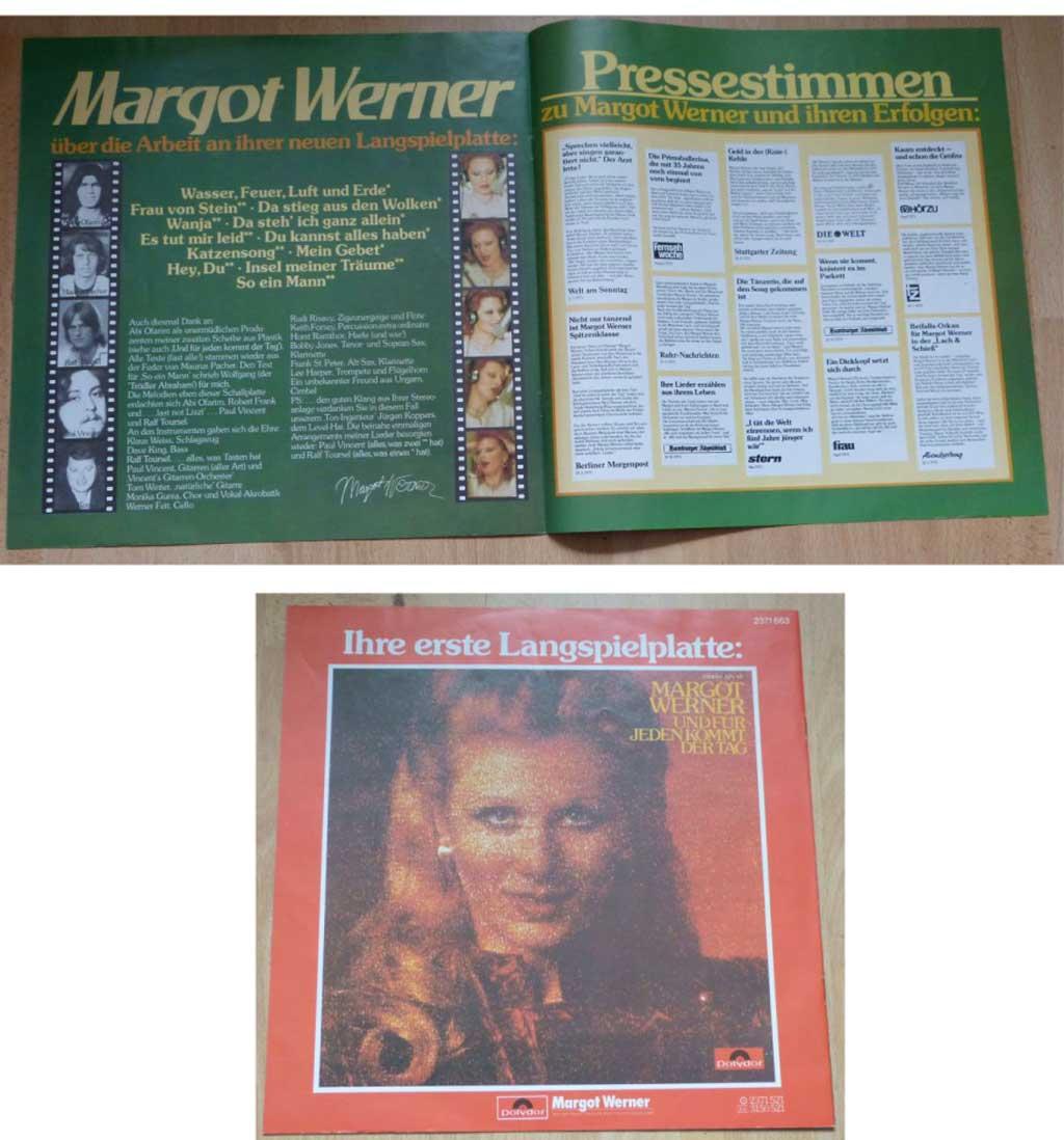 Flyer mit Pressestimmen über Margot Werner